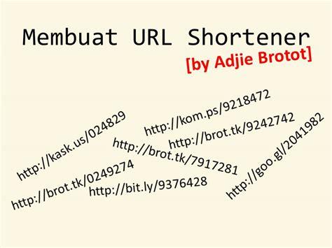 membuat website url shortener membuat url shortener sendiri cyber hack
