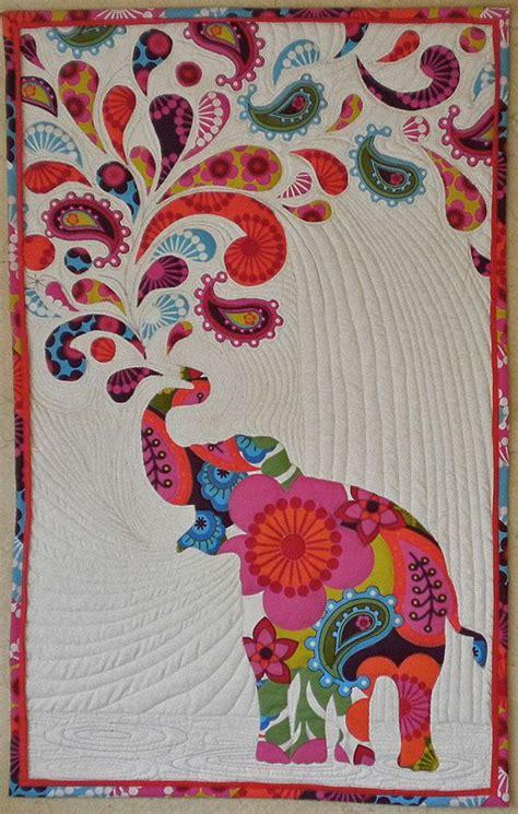 Elephant Applique Quilt Pattern by Quot Paisley Splash Quot Or Quot Don T Feed The Elephants L S D Quot I