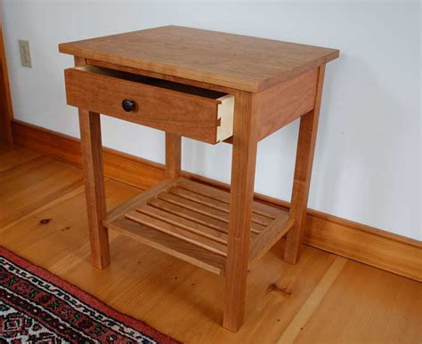 Handmade End Tables - vermont handmade mission end table in cherry walnut or