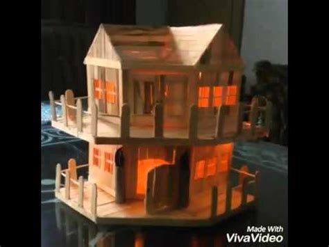 how to build a popsicle stick house diy popsicle sticks house youtube