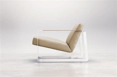 contemporary leather armchair with exclusive distinctive