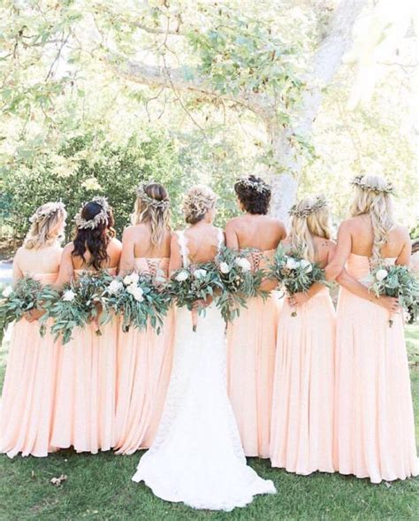 wedding colour themes bridesmaid dresses etc sweet peach color theme wedding ideas weddceremony com