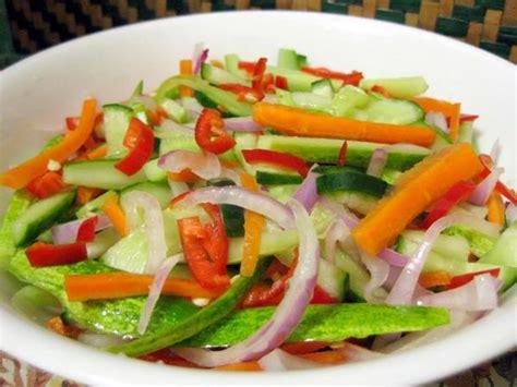 resep acar timun wortel mentah pelengkap masakan