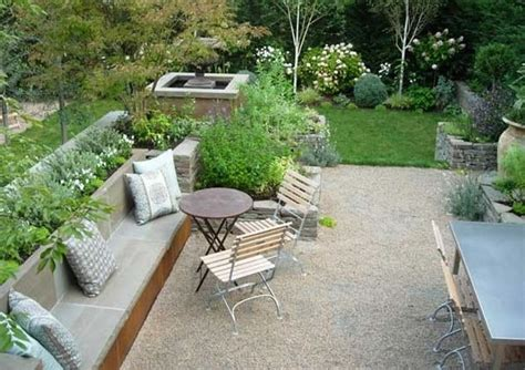 backyard gravel ideas crushed gravel patio ideas design idea and decorations