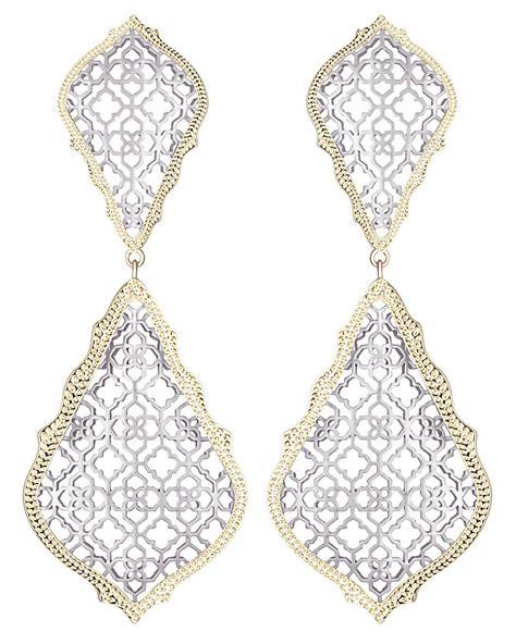 adela statement earrings in silver kendra jewelry