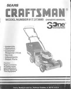 craftsman lawn mower 917 37368 user guide manualsonline com