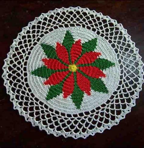 antel de noche buenas a crochet poinsettia doily pattern free crochet patterns