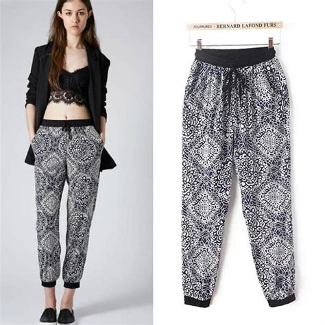 pictures of womenspant styles european style sport women pants floral print casual loose