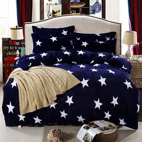 Navy And White Duvet Cover Set by Buy Navy Blue Flannel Four Bedding White