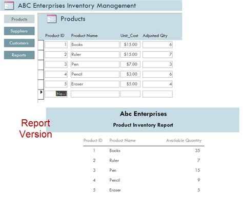 microsoft access inventory management template opengate software inc
