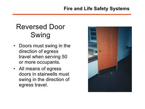 egress door swing direction fm 403 mod 10 fire life safety systems