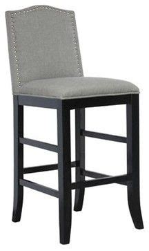 Scrollback With Nailhead Counter Stool Ave Six by Adele Greylinen Counter Height Stool Contemporary Bar