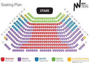 Lyceum Theatre Floor Plan seating amp price bands the new wolsey theatre ipswich