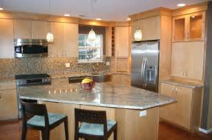 best kitchen backsplash material quartz countertops with natural maple cabinets