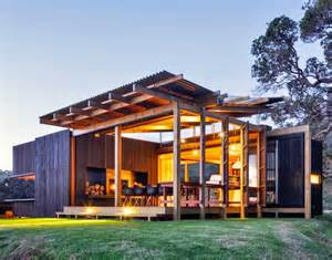 Tiny House Building Plans New Zealand Beach House Transforms Into An Open Aired