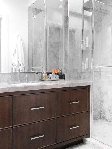 dark brown bathroom vanity dark brown vanity with waterfall edge countertop contemporary bathroom