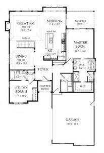 2 Bedroom Ranch Floor Plans two bedroom ranch home
