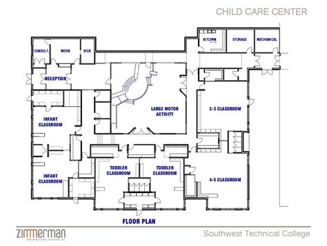 Floor Plan Of Child Care Centre | facility sketch floor plan family child care home