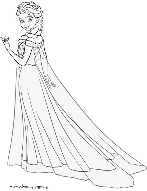 snow queen elsa just coloring coloring pages