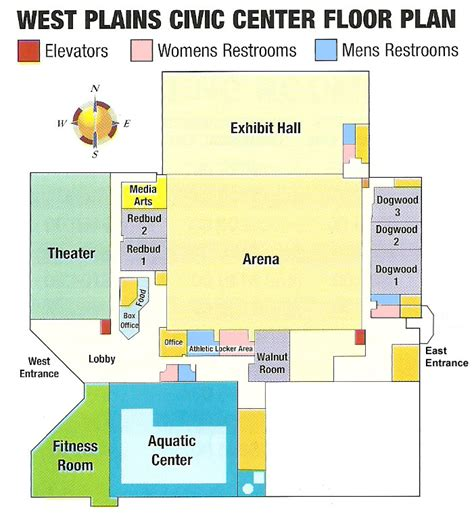 civic center floor plan facility layout west plains civic center