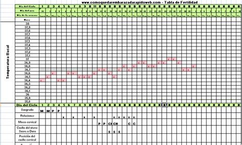 Calendario Fertilidad Calcular Dias Fertiles Termometro