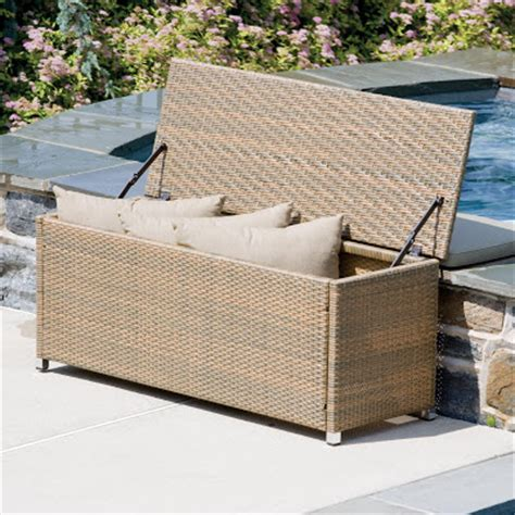 outdoor wicker storage bench the outdoor wicker entryway storage bench entryway