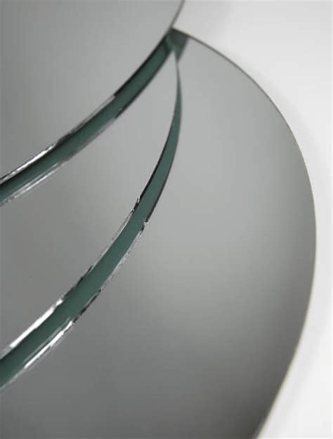 six 12 quot round glass table centerpiece mirrors