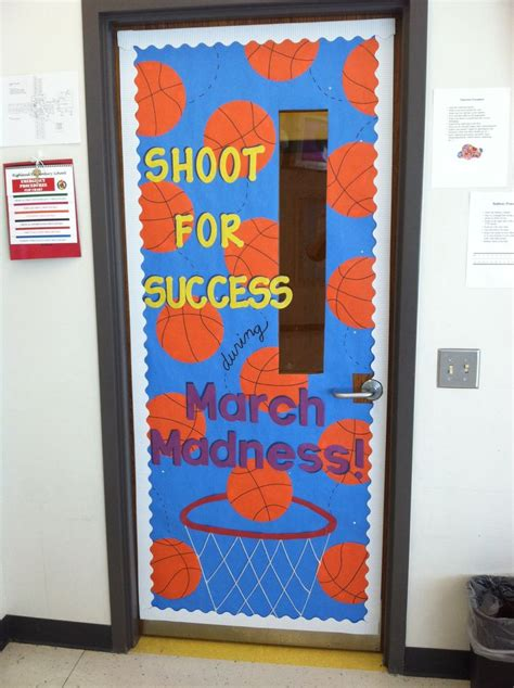 sports themed door decorations march madness themed classroom door sports theme