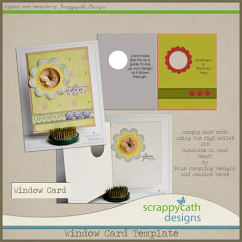 window templates for card ideas for scrapbookers window card template
