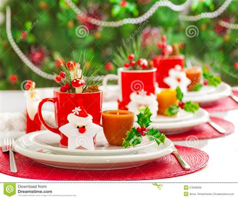 christmas dinner decoration stock image image 27848339