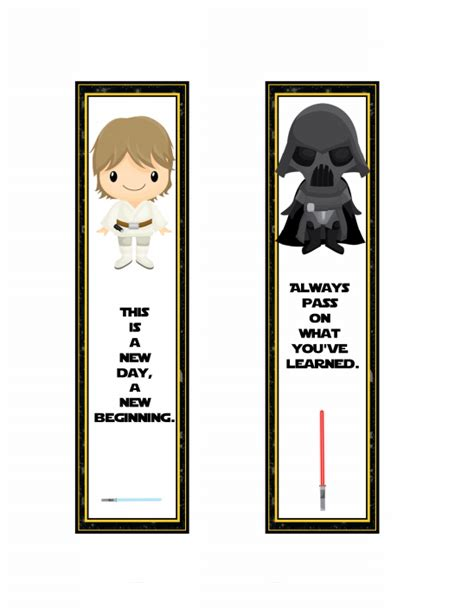 Printable Bookmarks Star Wars | star wars back to school free printables onion rings