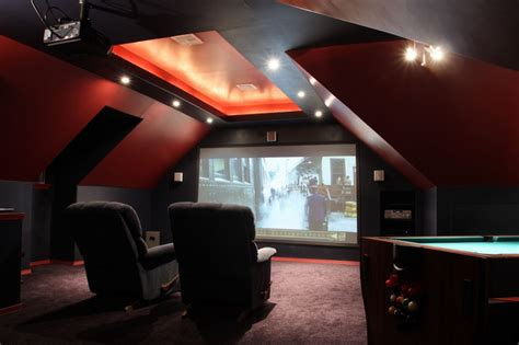 home decor ideas attic family home theater room design