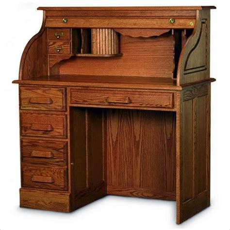 Haugen Roll Top Desk Haugen Home Solid Oak Roll Top Single Pedestal Desk Ebay