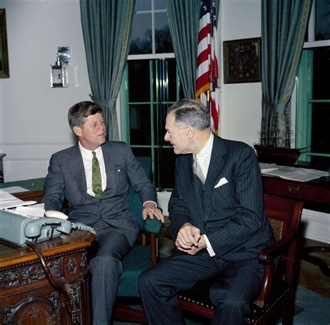 Jfk Oval Office by Meeting With Henry Cabot Lodge Director General Of The