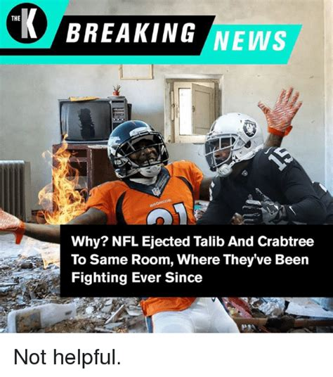 nfl pictures videos breaking news nfl on huffington post breaking news the why nfl ejected talib and crabtree to