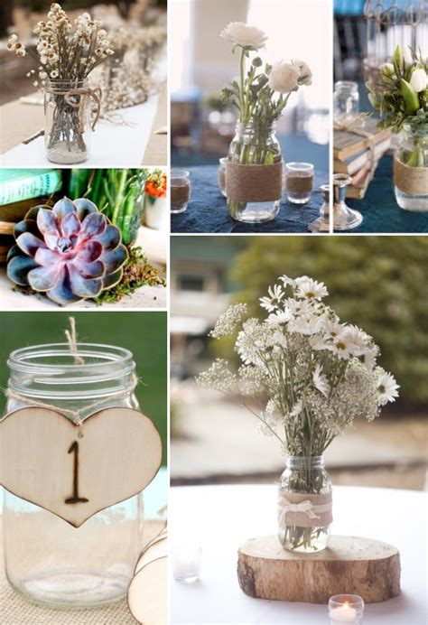 wedding table decoration ideas with jars jar ideas for weddings weddings by lilly