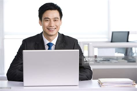 office worker at his desk stock photo getty images