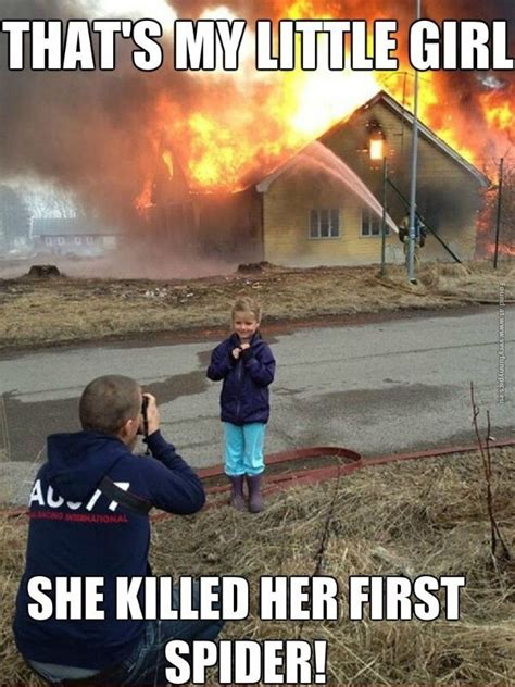 Killing Spiders Meme - daddy s girl killed her first spider very funny pics