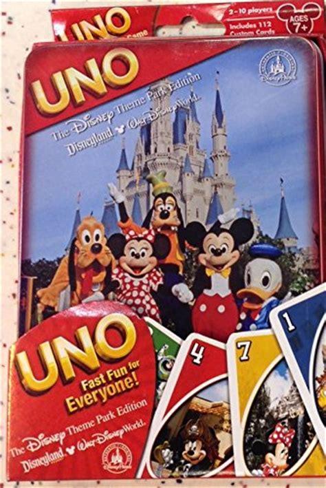Disney Gift Card For Theme Park - uno disney theme park edition ebay