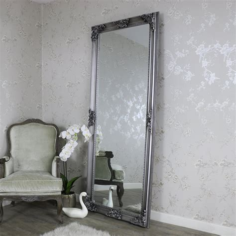 extra large ornate antique silver wall floor mirror full length vintage chic 5055630981378 ebay