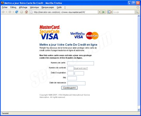 Lettre Demande De Carte Bleue Visa Secuser Phishing Ciblant Les Utilisateurs De Cartes
