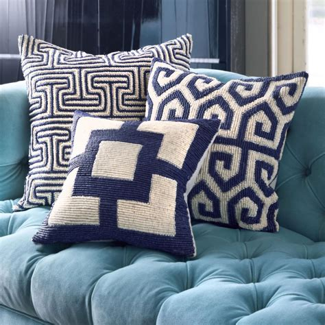white sofa with colorful pillows navy and white decorative pillows best decor things