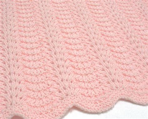Handmade Knitted Baby Blankets - knit baby blanket pink baby blanket knitted light