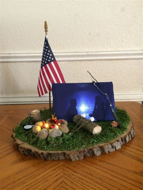 cub scout blue and gold lighted cing centerpiece the