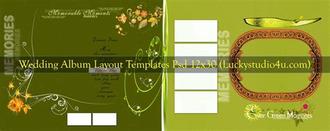 Wedding Album Layout Templates by Wedding Album Layout Templates 12x30 Psd Files
