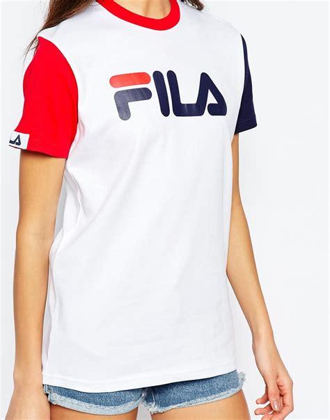 T Shirt Fila 2 fila basic t shirt with logo detail colourblock in