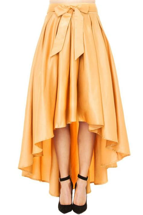 gold pattern skirt gracia gold asymmetrical skirt from florida by la femme