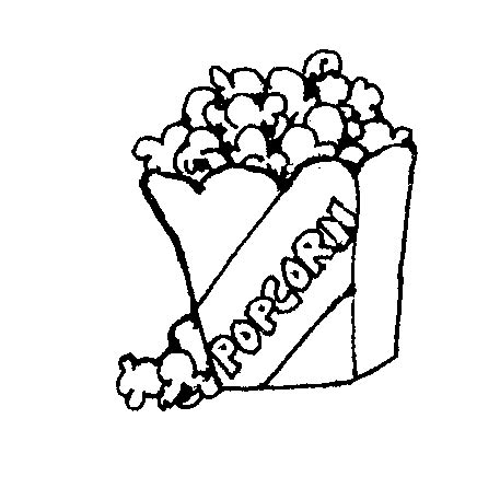 black and white clipart single popcorn clipart black and white images pictures