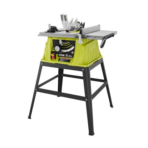 ryobi 15 10 in table saw rts10g the home depot