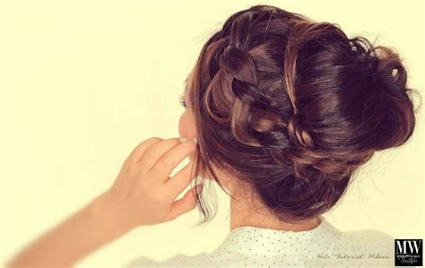 messy buns for long hair hair style and color for woman